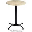 Grosfillex® Bar Height Outdoor Table Base - Black