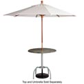 Grosfillex® Bar Height Tulip Outdoor Table Base - Silver Gray (Sold in Pkg. Qty. 2) - Pkg Qty 2