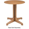 "Grosfillex® 36"" Round Melamine Outdoor Tabletop w/ Umbrella Hole - Teak"