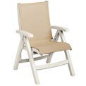 Grosfillex® Belize Midback Folding Sling Chair - Khaki Sling/White Frame (Sold in Pk. Qty 2) - Pkg Qty 2