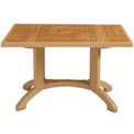 "Grosfillex® Atlantis 48"" x 32"" Outdoor Pedestal Table - Teakwood"