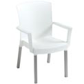 Grosfillex® Havana Classic Outdoor Armchair - White (Sold in Pk. Qty 4) - Pkg Qty 4