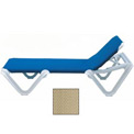 Grosfillex® Nautical Sling Chaise - Khaki (Sold in Pk. Qty 2) - Pkg Qty 2