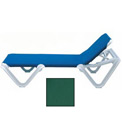 Grosfillex® Nautical Sling Chaise - Hunter Green (Sold in Pk. Qty 2) - Pkg Qty 2
