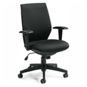 Offices To Go™ Fabric Executive Chair, Black
