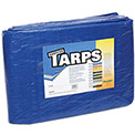 4' x 6' Light Duty 2.9 oz. Tarp, Blue - B4x6