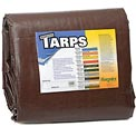 20' x 30' Super Heavy Duty 8 oz. Tarp Brown - BR20x30