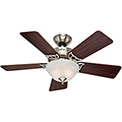 "Hunter Fan Kensington® 42"" Indoor Ceiling Fan 51015 - Brushed Nickel"