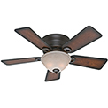 "Hunter Fan Conroy 42"" Indoor Ceiling Fan 51023 - Onyx Bengal"