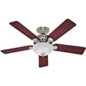 "Hunter Fan Five Minute Fan® 52"" Indoor Ceiling Fan 53085 - Brushed Nickel"