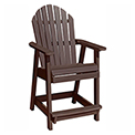 highwood® Hamilton Counter Deck Chair, Weathered Acorn