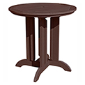 highwood® Round 36 Diameter Counter Dining Table, Weathered Acorn