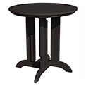 highwood® Round 36 Diameter Counter Dining Table, Black