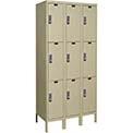 Hallowell UEL3228-3A-PT Assembled Electronic Access Locker Triple Tier 3 Wide - 12x12x26