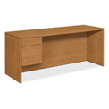 "HON® Credenza with Left Pedestal - 72""W x 24""D x 29-1/2""H - Harvest - 10500 Series"