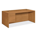 "HON® Wood Desk - Single Left Pedestal - 72"" - Harvest - 10500 Series"
