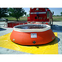 "Husky Low-Sided Self Supporting Tank LS-500 - 84"" Dia. x 33""H 500 Gallon Cap. Orange"