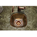 Houzer HW-SCH1BF Hammerwerks Undermount Copper Single Bowl Bar/Prep Sink, Antique Copper