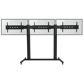 "TygerClaw LVW8603 Mobile Triple Monitor TV Stand for 30""-60"" TVs - Black"