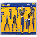 "4 Pc. Pliers-6"" Long Nose, 6"" Slip Joint, 10"" Adj Wrench & 10"" Groove Joint"