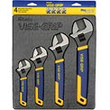 "4 Pc. Adjustable Wrench Tray Set-6"", 8"", 10"" & 12"""