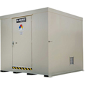 Justrite Non-Combustible Outdoor Chemical Storage Building 911160 - 16-Drum