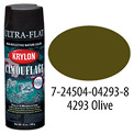 Krylon Camouflage With Fusion For Plastic Paint Olive Drab - K04293000 - Pkg Qty 6