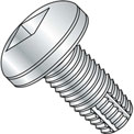 8-32X3/8  Square Drive Pan Thread Cutting Screw Type F Fully Threaded Zinc Bake, Pkg of 10000