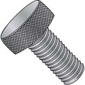 8-32X3/8  Knurled Thumb Screw Full Thread Aluminum, Pkg of 100