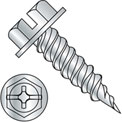"10-16X3/4  Combo (slot/phil) Ind Hexwasher 1/4"" Across Flats F/T Self Piercing Screw Zinc,4000 pcs"