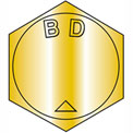 B1 1/4-12X9  MS90727, Alloy Steel B1821 Fine Cap Screw Per ASTM A354BD Zinc Yellow DFAR, Pkg of 10