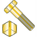 1/4-28 x 1/2 MS90726 Military Hex Cap Screw - Fine Thread - Yellow - Grade 5 - Pkg of 3300