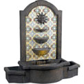 "Kenroy Lighting, Cascada Floor Fountain, 50721MD, Madrid Finish W/Patterned Tile Motif, Resin, 18""L"