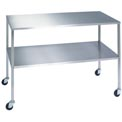 "Lakeside® 8356 Stainless Steel Instrument Table with Shelf - 36""L x 20""W x 34""H"