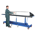 Vestil Extra-Long Deck Mobile Work Positioning Lift Table Cart LDLT-3072