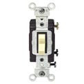 Leviton CS120-2T 20 Amp, 120/277 Volt, Single Pole  Side Wired Switch, Lt Almond