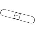 """36"""" x 5"""" Zinc Plated Clip-On Dust Mop Frame - UNS1436"""