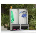 "Lifetime 60226 Outdoor Plastic Storage Locker with Bench 45-7/32""W x 18""D x 64-11/16""H Gray"