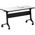 "Mayline® Training Table with Flip Top - 48"" - x 24"" - Folkstone - Flip-N-Go Series"