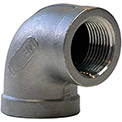 1 In. 304 Stainless Steel 90 Degree Elbow - FNPT - Class 150 - 300 PSI - Import