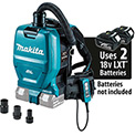 Makita XCV05ZX 18V X2 LXT 36V Brushless Cordless 1/2 Gal HEPA Filter Backpack Dry Vacuum & Adapters