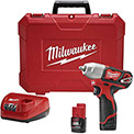 "Milwaukee 2463-22 M12™ 3/8"" Impact Wrench Kit Cordless Lithium-Ion"