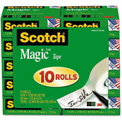 "Scotch® Magic Tape Value Pack, 3/4"" x 1000"", 10 Rolls/PK"