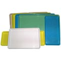 "Molded Fiberglass Color Coded Display Tray 334008 -12""W X 18""L, Pkg Qty 12, Blue - Pkg Qty 12"
