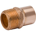 Mueller W 01188 2 In. X 1-1/2 In. Wrot Copper Male Adapter - Copper X Male Adapter