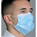 Defend® MK-1246 Pleated Earloop Face Mask E-Z - Blue, 50/Box