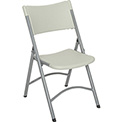 Folding Chair - Blow Molded Resin - Gray - Pkg Qty 4