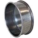 "Nordfab 3151-0400-100000 QF End Cap, 4"" Dia, Galvanized Steel"
