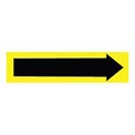 Pressure-Sensitive Pipe Marker - Direction Arrow Yellow