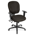 Lorell® Adjustable Waterfall Design Fabric Task Chair - Pepper